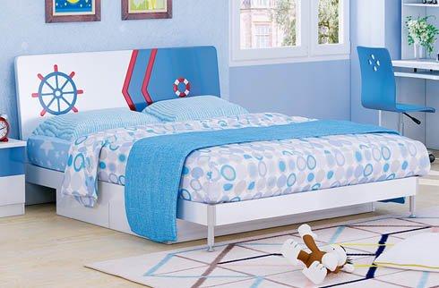 Bộ giường ngủ đơn cho bé trại gỗ công nghiệp