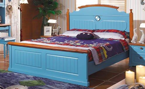 Bộ giường ngủ đơn cho bé trai gỗ tự nhiên
