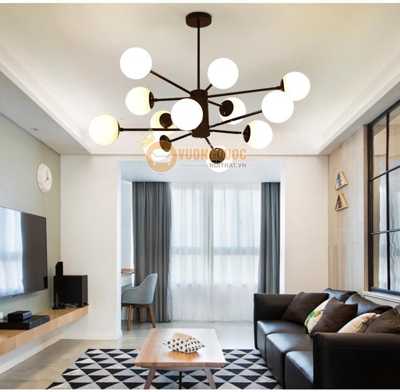 Giá đèn thả trần phòng khách
