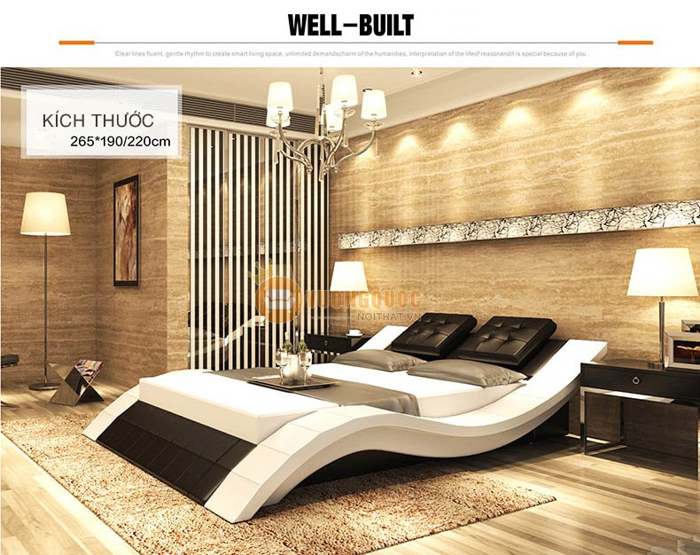 Mẫu 6: giường ngủ thiết kế độc đáo, phá cách