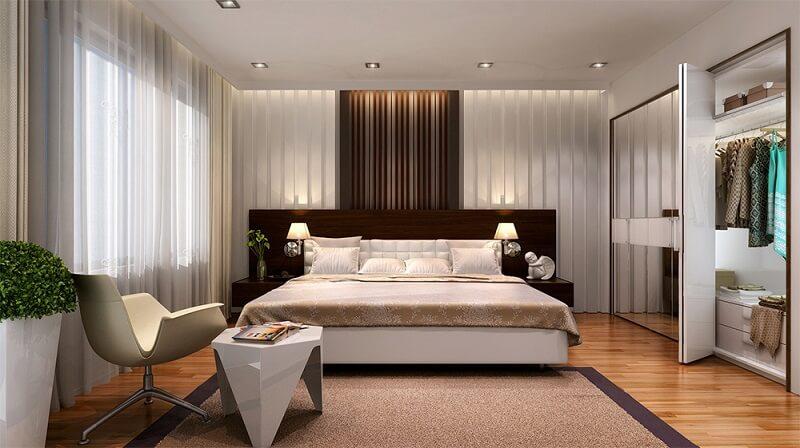 thiết kế nội thất phòng ngủ gia đình