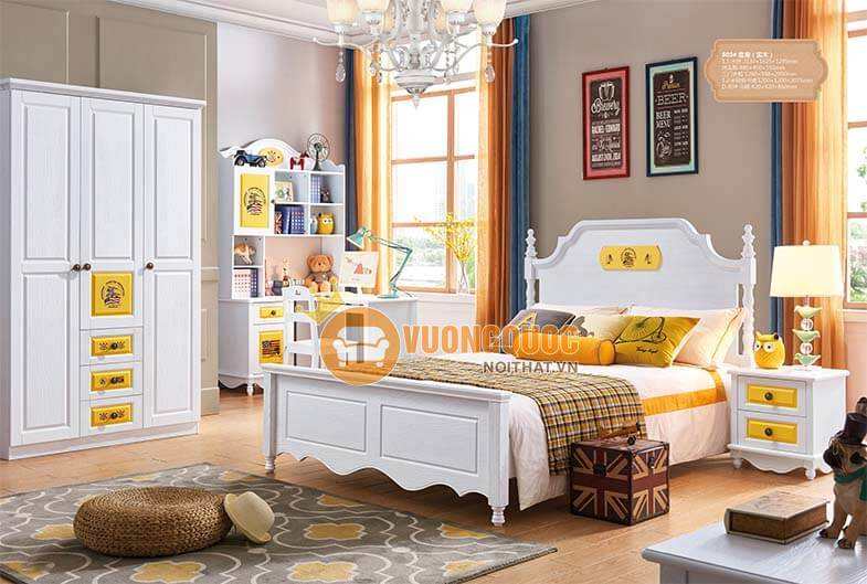 Ưu điểm của các bộ giường ngủ đơn cho bé trai tại Vương Quốc Nội Thất