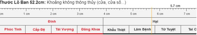 Thước lỗ ban kích thước 52cm